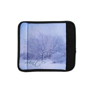 KESS InHouse Alison Coxon 'Winter Tree' Lilac Cutting Board Luggage Handle Wrap