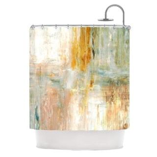 Kess InHouse CarolLynn Tice 'Coffee' Brown Paint' Shower Curtain (69x70)