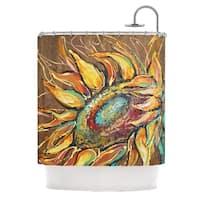 "Kess InHouse Brienne Jepkema ""Sunflower"" Yellow FlowerShower Curtain, 69"" x 70"""