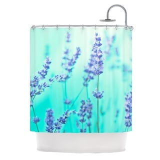 KESS InHouse Monika Strigel 'Mint Lavender' Shower Curtain (69x70)