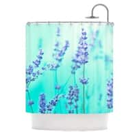 KESS InHouse Monika Strigel 'Mint Lavender' Shower Curtain (69x70)