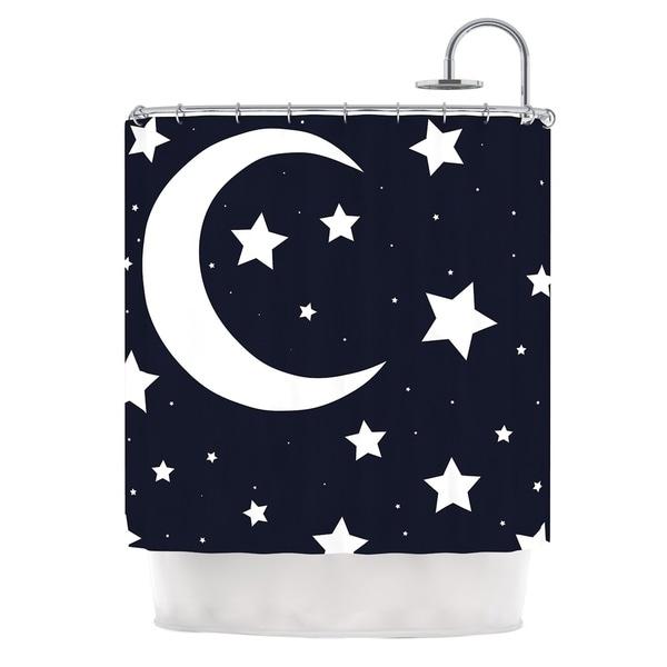 KESS InHouse KESS InHouse 'Moon & Stars' Shower Curtain (69x70)