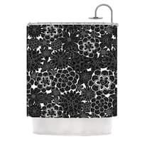 KESS InHouse Julia Grifol 'Flowers in White & Black' Shower Curtain (69x70)