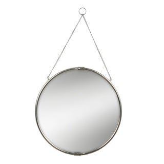 Reclaimed Metal Decorative Silver Round Hanging Wall Mirror