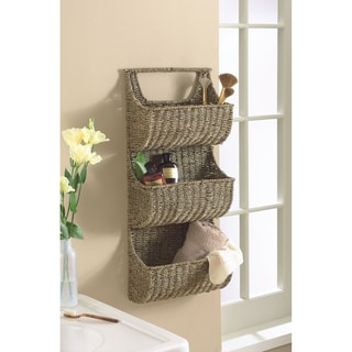 Tag Coffee Seagrass 3 Part Wall Basket