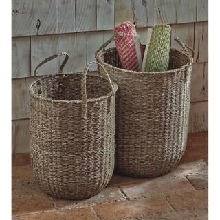 TAG Natural Seagrass Floor Basket (Set of 2)