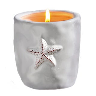 TAG White Star Fish Citronella Candle Pot