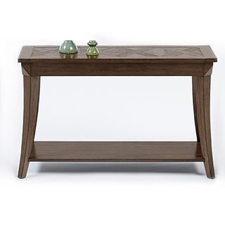 Distressed Poplar Veneer Sofa Console Table