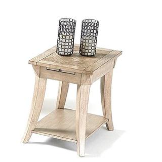 Distressed Veneer/MDF Rectangular End Table