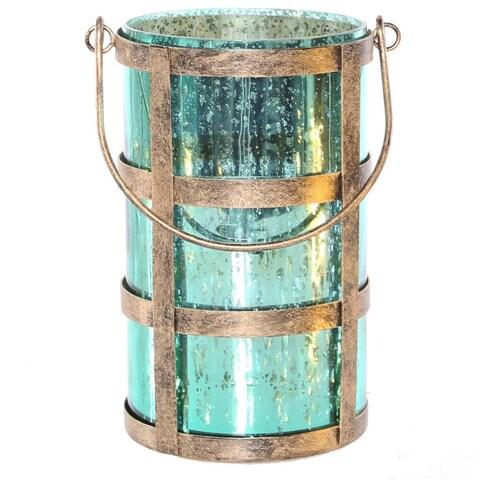 The Gray Barn Makali'I Mercury Glass Caged Jar with Lights