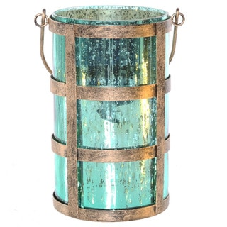 River of Goods Mercury Glass 8-inch Caged Jar with Lights