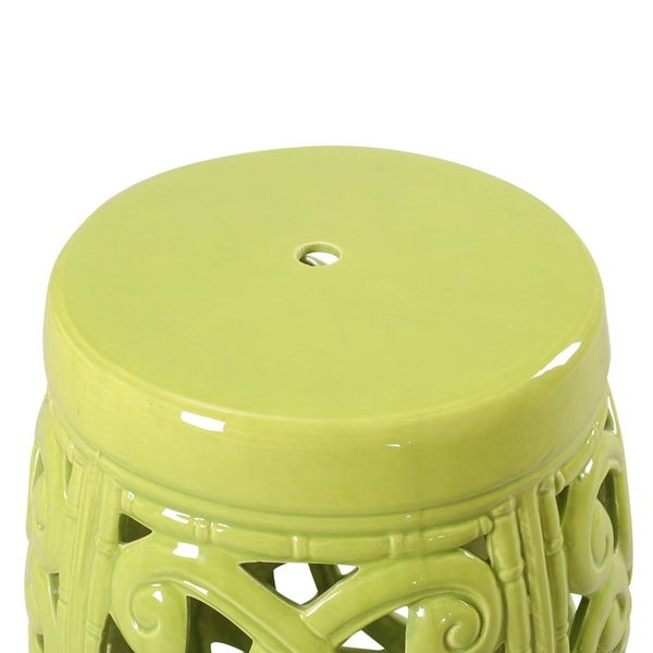 Lime Green Ceramic Garden Stool   Free Shipping Today   Overstock.com    18960301 Sc 1 St Overstock.com