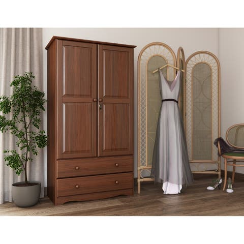 Smart Solid Wood Customizable Wardrobe Armoire By Palace Imports 40 W X 72
