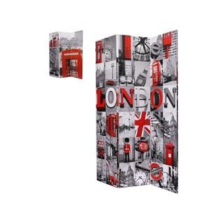 London Multicolored Fabric Room Divider