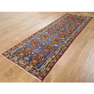 Balouch Blue Wool-on-wool Oriental Hand-knotted Rug (2'11 x 9'5)
