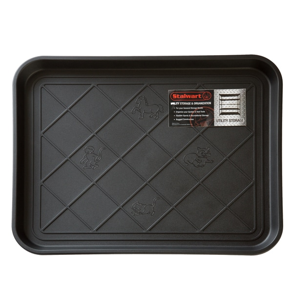 Stalwart 20 X 15 Inch Black Eco Friendly Utility Boot Tray