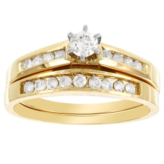 H Star 14k Yellow Gold 1/2ct Diamond Bridal Set (I-J, I2-I3)