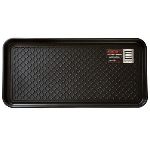 Stalwart Black 30-inch x 15-inch Eco-friendly Utility Boot Tray Mat