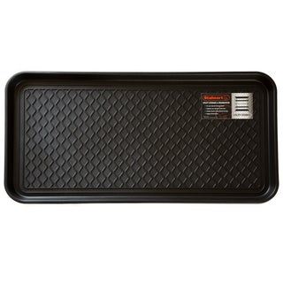 All Weather Boot Tray - Large Water Resistant Plastic Utility Shoe Mat by Stalwart (Black)