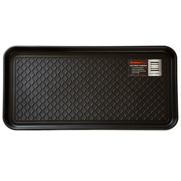 Stalwart 30 X 15 Inch Black Eco Friendly Utility Boot Tray