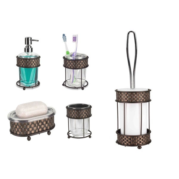oil rubbed bronze bathroom wastebasket search