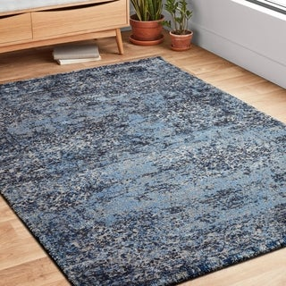 "Hastings Light Blue/ Grey Runner Rug - 2'5"" x 7'7"" Runner"