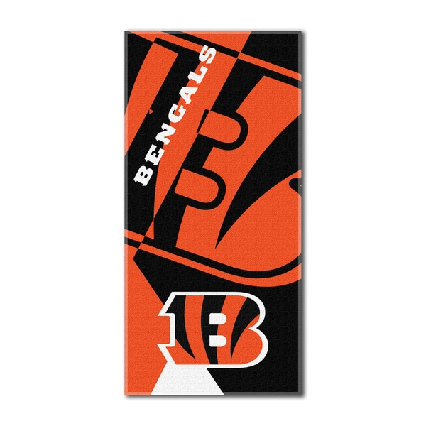 NFL 622 Bengals Puzzle Beach Towel