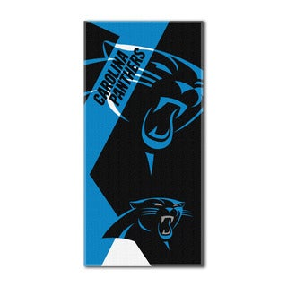 NFL 622 Panthers Puzzle Beach Towel