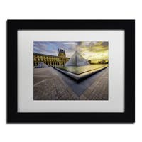 Mathieu Rivrin 'Geometry of the Louvre Museum' Matted Framed Art