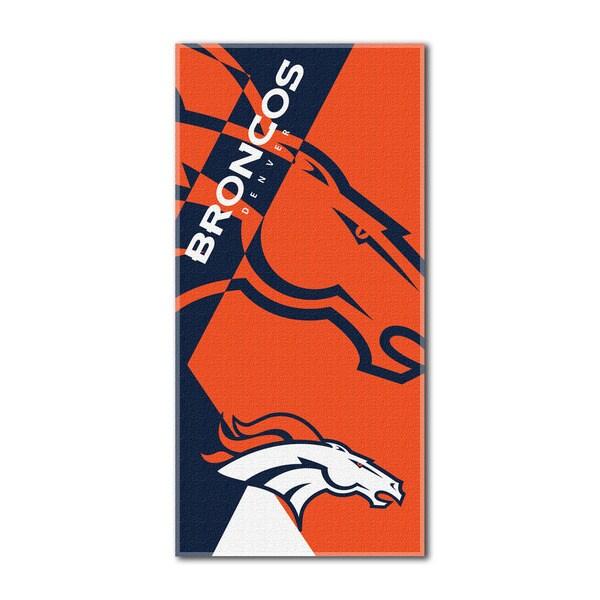 NFL 622 Broncos Puzzle Beach Towel