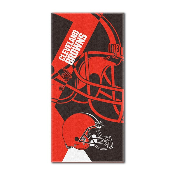 NFL 622 Browns Puzzle Beach Towel