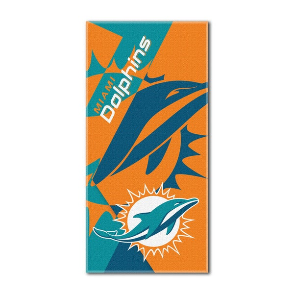 NFL 622 Dolphins Puzzle Beach Towel