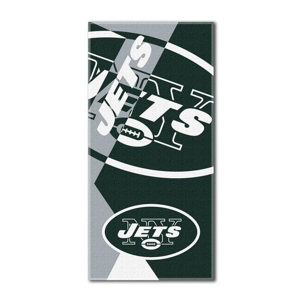NFL 622 Jets Puzzle Beach Towel