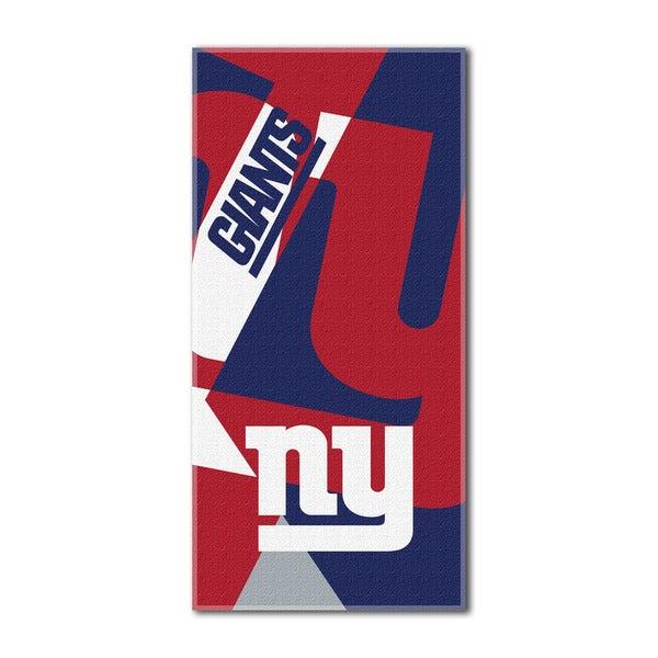 NFL 622 NY Giants Puzzle Beach Towel