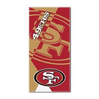 NFL 722 49ers Puzzle Beach Towel