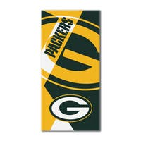 NFL 722 Packers Puzzle Beach Towel