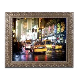 Philippe Hugonnard 'Time Night NYC' Ornate Framed Art