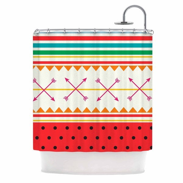 KESS InHouse Famenxt 'Watermelon Arrows and Colors' Shower Curtain (69x70)