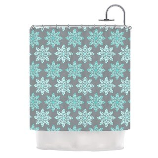 "Kess InHouse Anchobee ""Blue Christmas"" Blue GrayShower Curtain, 69"" x 70"""