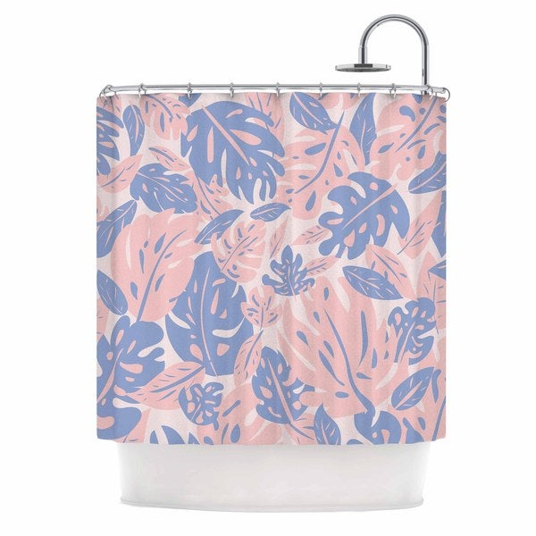 KESS InHouse Will Wild 'Rose Quartz & Serenity Jungle' Shower Curtain (69x70)