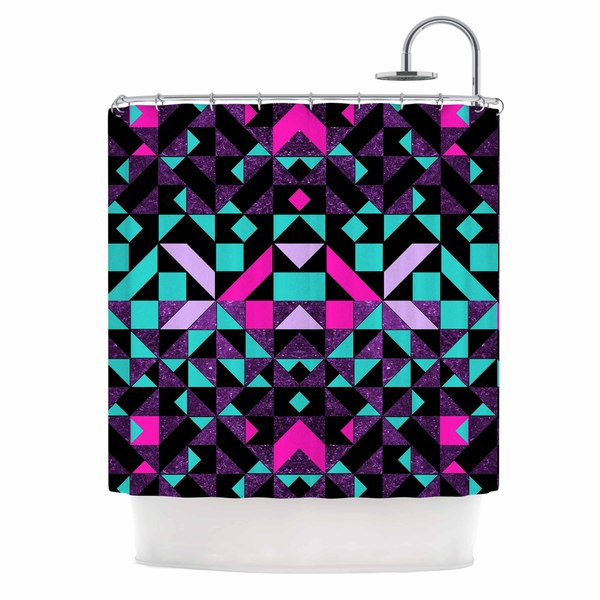KESS InHouse Vasare Nar 'Geometric Galaxy' Shower Curtain (69x70)
