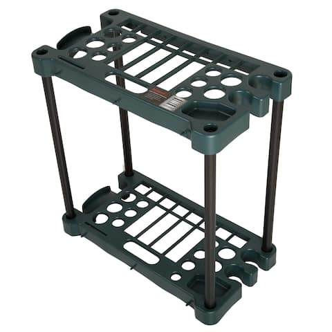 Stalwart Compact Garden Tool Storage Rack - Fits Over 30 Tools