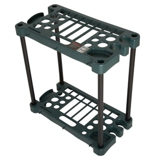 Stalwart Compact Garden Tool Storage Rack -  Fits Over 30 Tools - 23 x 12.5 x 24