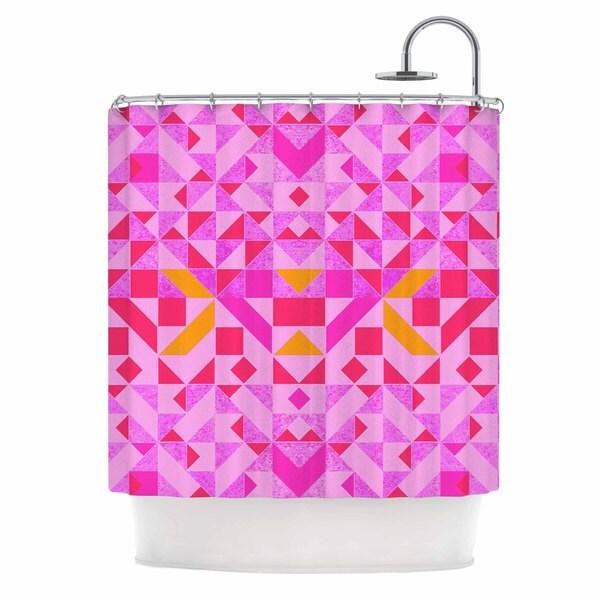 KESS InHouse Vasare Nar 'Candy Geometric' Shower Curtain (69x70)