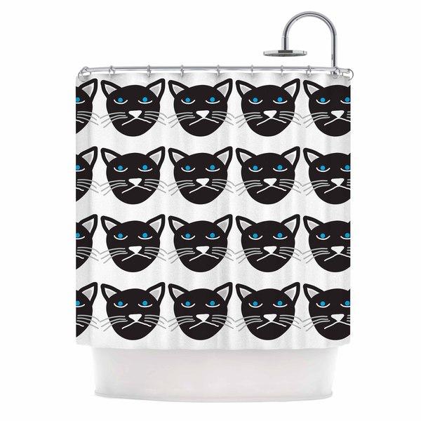 KESS InHouse Vasare Nar 'Grumpy Cat' Shower Curtain (69x70)