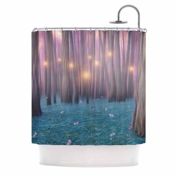KESS InHouse Viviana Gonzalez 'Pink Feather Dance' Shower Curtain (69x70)