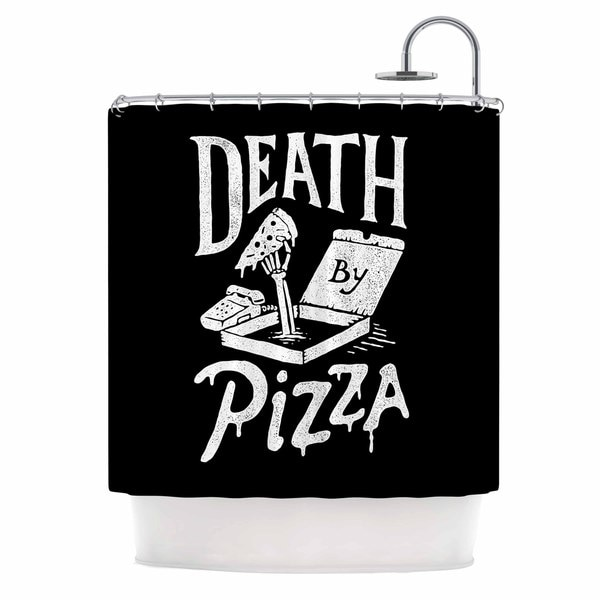 KESS InHouse Tatak Waskitho 'Death By Pizza' Shower Curtain (69x70)