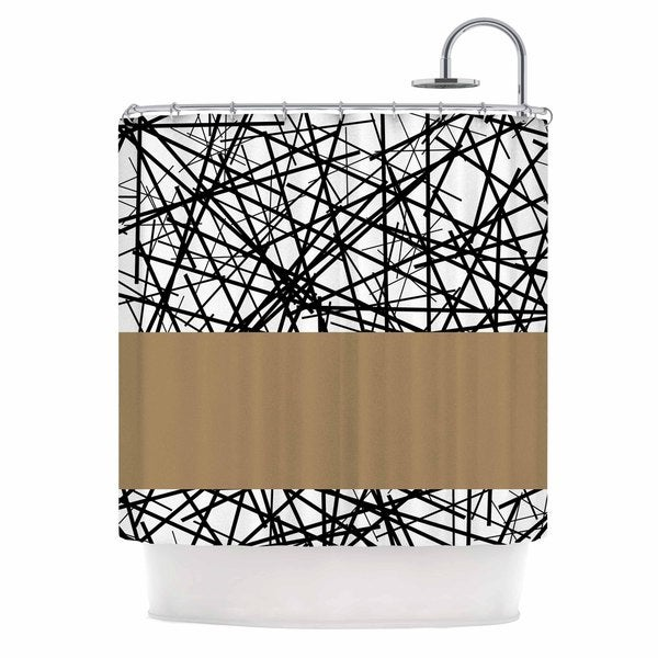 KESS InHouse Trebam 'Kava' Shower Curtain (69x70)