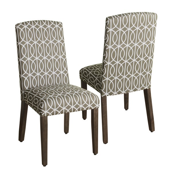 Shop HomePop Finely Curved Top Parson Dining Chair