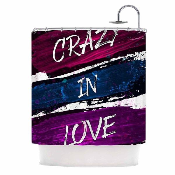 KESS InHouse Noonday Design 'Crazy In Love' Shower Curtain (69x70)
